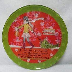 DEMDACO Curly Girl Christmas Plate Patter NEW